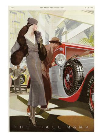 Elegantly Dressed Lady at the Motor Show, Olympia, London