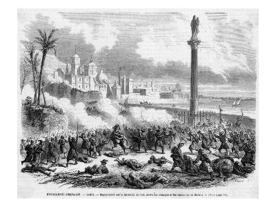 Fighting Between Supporters and Opponents of the Provisional Government by the City Walls