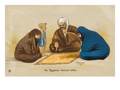 Egyptian Street Fortune Teller Has Two Women Engrossed in His Soothsaying