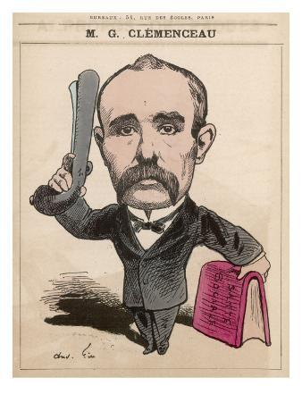 Georges Clemenceau French Statesman: a Satire on His Concern for His Country's Wellbeing