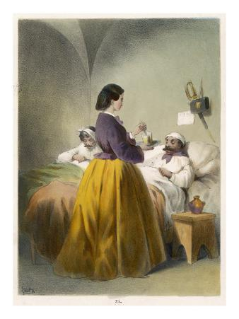 Florence Nightingale in Scutari, Florence Nightingale Attends a Patient