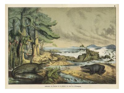 German Landscape During the Triassic Era