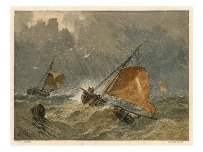 Fishing Boats in a Storm