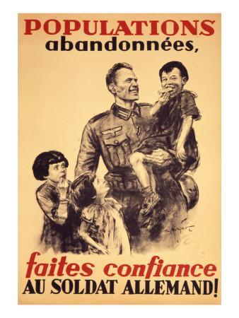 French Poster of the Occupation