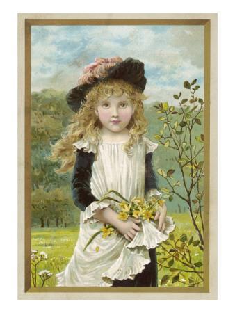 Girl and Daffodils 1880s