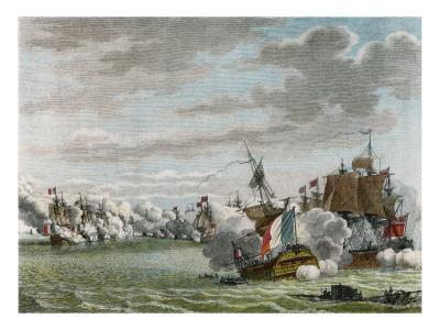 Glorious First of June, the French Fleet Is Defeated by Howe Off Ushant