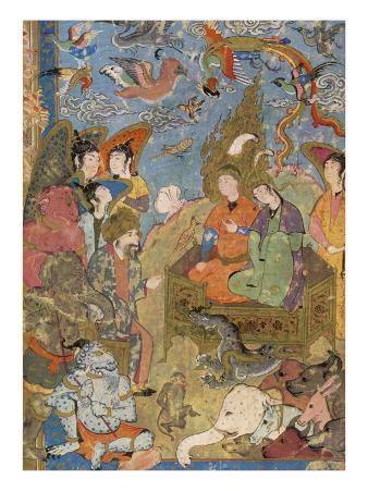 He Is Visited by Nicaule, Queen of Sheba, in Asia