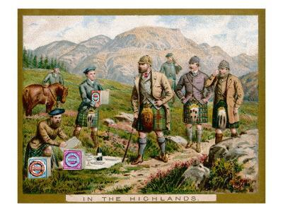 In the Scottish Highlands on a Huntley and Palmers Biscuit Card