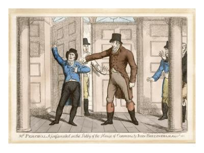 John Bellingham Shoots Spencer Perceval in the Lobby of the House of Commons