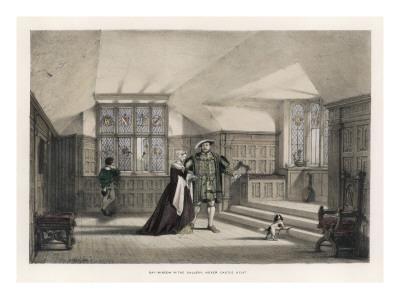Henry VIII with Anne Boleyn, His Mistress