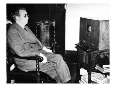 John Logie Baird Watching Stereoscopic Television, 1942