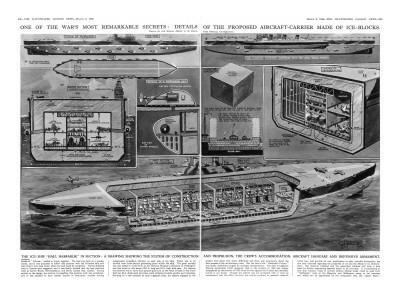 HMS 'Habbakuk' in Section