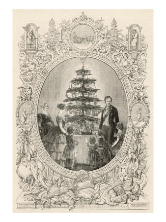 Queen Victoria and the Royal Children Gather Round the Christmas Tree