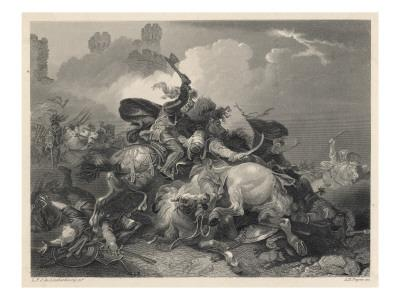 Richard I in Action in Palestine, During the Third Crusade
