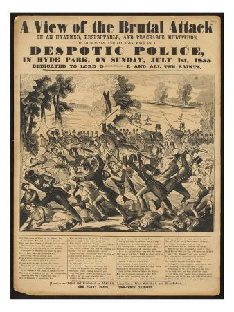 Political Poster Condeming 'Despotic Police'