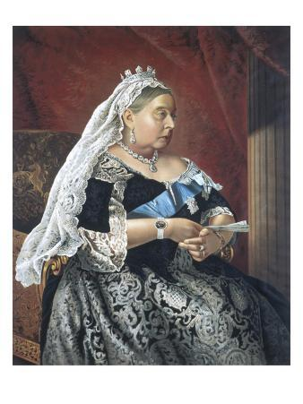 Queen Victoria Pictured Circa. 1885