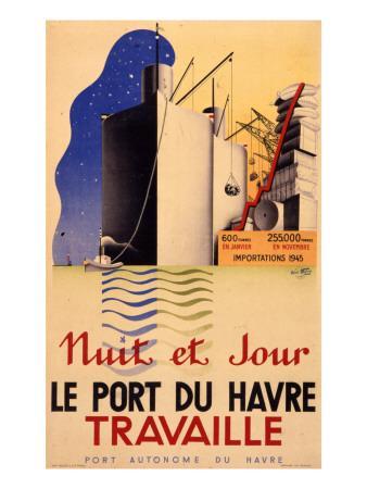 Le Havre Port Poster