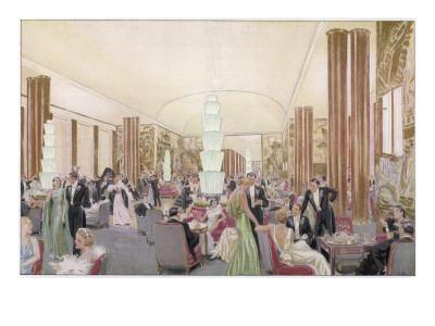 Le Grand Salon of the Luxurious French Liner Ss Normandie