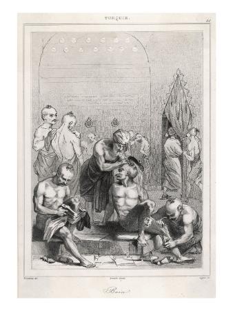 Men in a Bath House in Turkey