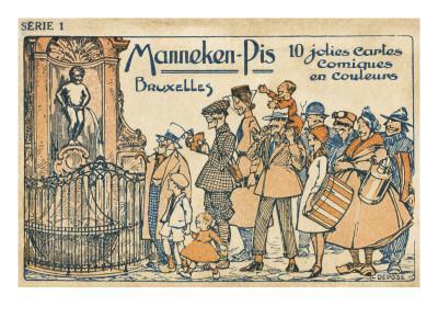 Manneken Pis Postcard Album - Cover