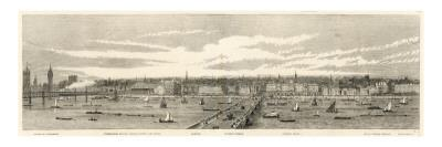 North Bank of the Thames from Westminster to Temple, London