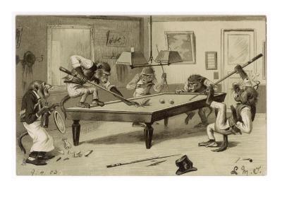 Monkeys Play Billiards