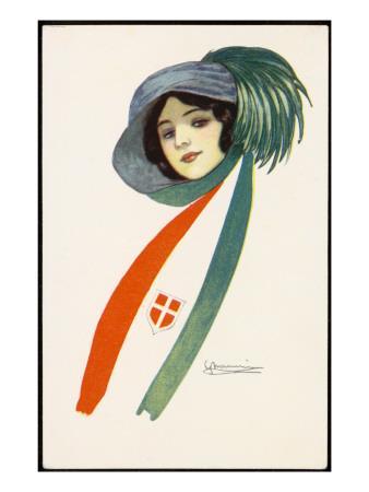 Patriotic Italian Girl
