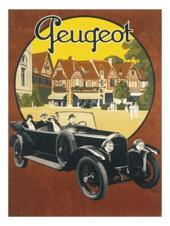Peugeot Advertising Poster