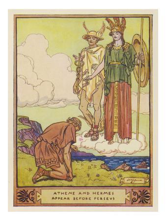 Perseus, Athene, Hermes