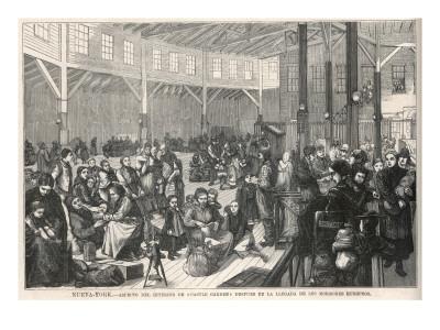 Mormon Immigrants Go Through Immigration Procedures at Castle Garden, New York