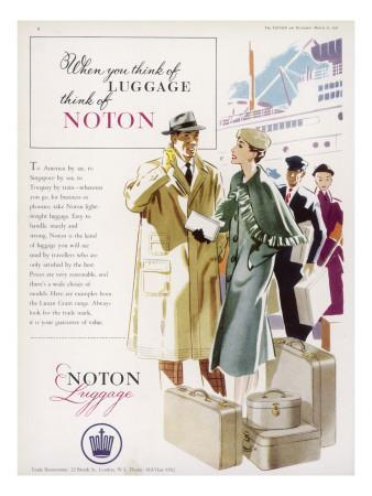 Noton Luggage Advertisement