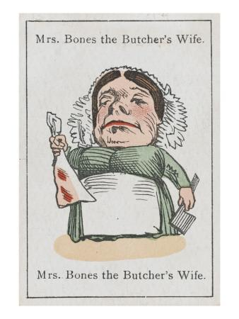"""Mrs Bones the Butcher's Wife, from """"Happy Families"""""""