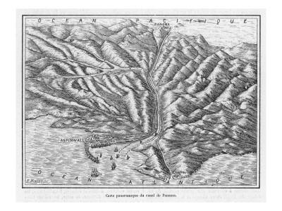Panama Canal Plan 1881