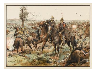 Otto Von Bismarck (1815 - 1898) Bismarck at the Battle of Koniggratz
