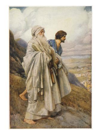 Moses and Joshua Descend from Mount Sinai