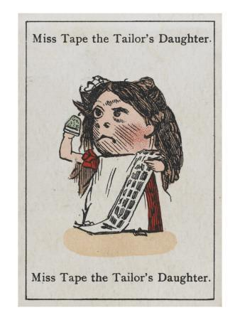 "Miss Tape the Tailor's Daughter, from ""Happy Families"""