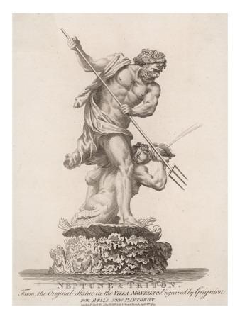 Neptune and Triton, from an Original Statue in the Villa Montalto