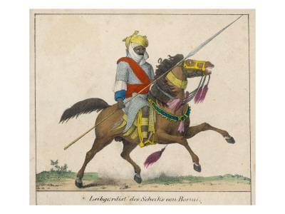 Mounted Warrior from Bornu, Nigeria
