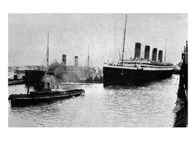 SS 'Olympic' Leaving Southampton, 1913