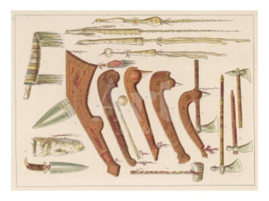 Sioux Weapons, Including Knives, Axes and Tomahawks