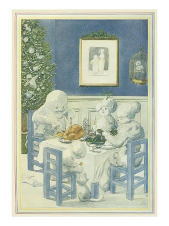 Snow Family Christmas Dinner