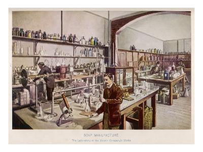 Soap Manufacture in the Laboratory at the Vinolia Company's Works