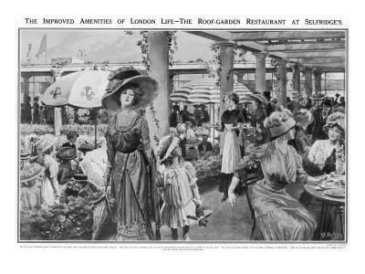 Selfridges' Roof Garden Restaurant, London, 1910