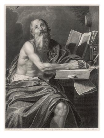 Saint Jerome Theologian, Looking to Heaven for Inspiration