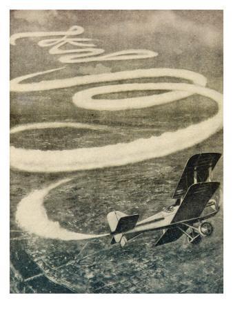 Skywriting from an Aeroplane, at 4000 Metres