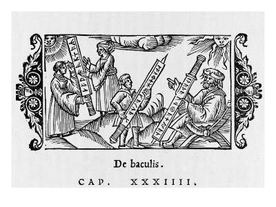 Scholars with Old Scandinavian Rune-Staves