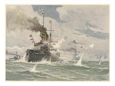 Russian Ships Break Out of Port Arthur