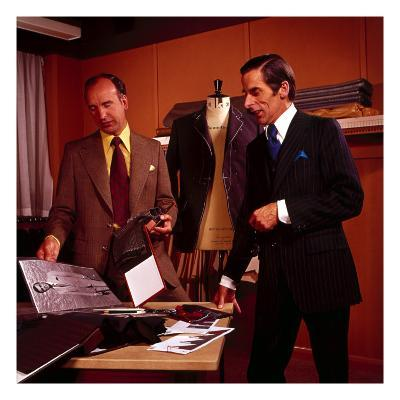 Tailors in Saville Row 1970s , Shop, Shopping, Suit, Suits, Workplace