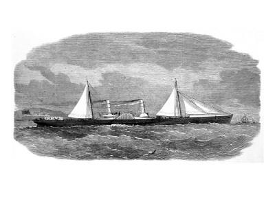 The Blockade Runner 'Lizzie'; American Civil War, 1864