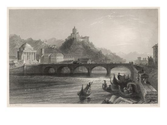 5764907541 The Bridge over the River Po, Running Through Turin (Torino) Giclee Print  at AllPosters.com